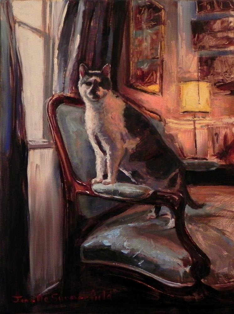 """Studio Cat"" original fine art by Jonelle Summerfield"