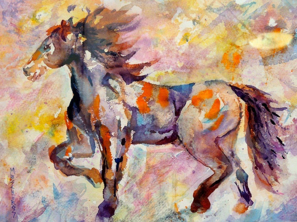 """Painted Pony 1"" original fine art by Mary Schiros"