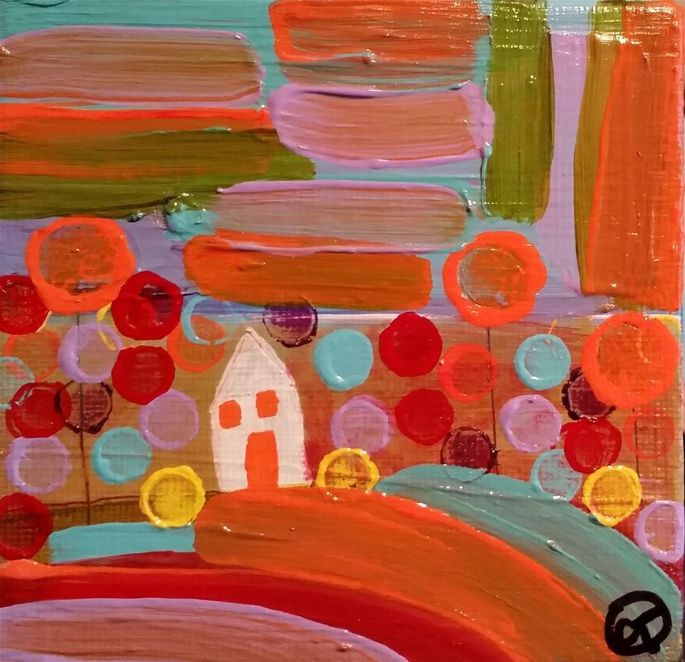 """Rainbow House 6 House # 170"" original fine art by Christy Tremblay"