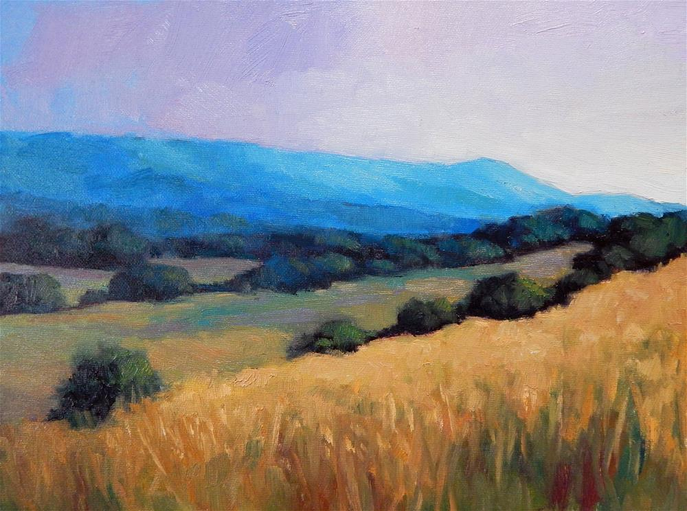 """Into the Blue Hills"" original fine art by Lisa Kyle"
