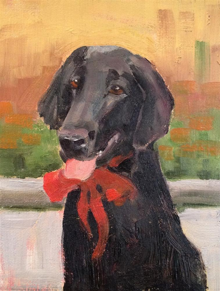 """Dog Commission"" original fine art by Deborah Newman"