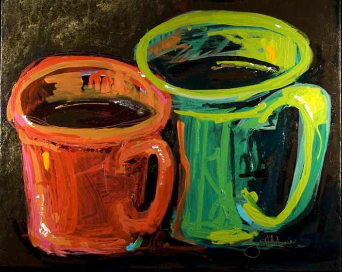 """Clouds in My Coffee"" original fine art by - JanettMarie"