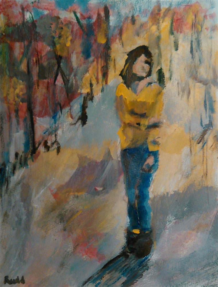 """October Chill"" original fine art by Ann Rudd"