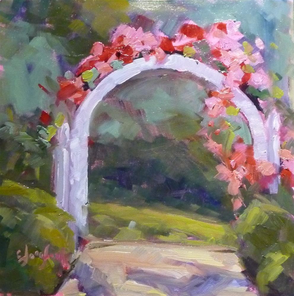 """Belmont Arbor"" original fine art by Carol Josefiak"