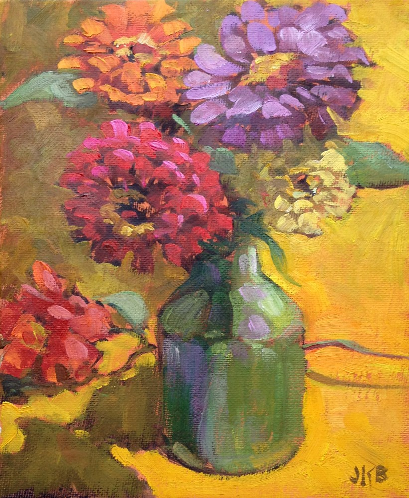 """Mid-Century Colors"" original fine art by Jeanne Bruneau"