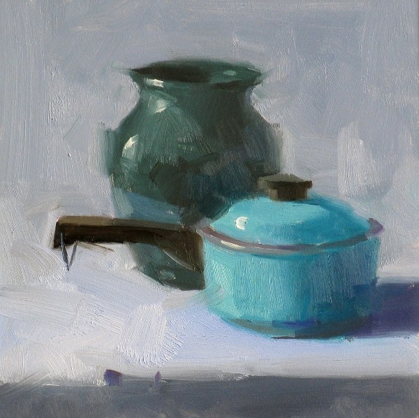 """Not Bule, it is Cyan"" original fine art by Qiang Huang"