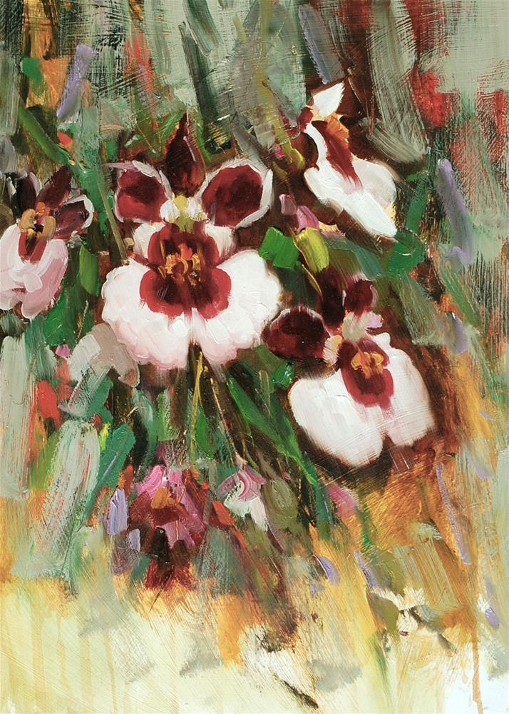 """Orchids"" original fine art by Mahin Gholizadeh"