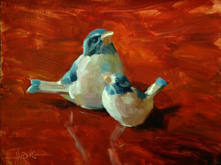 """Blue Birds"" original fine art by Scott Harding"