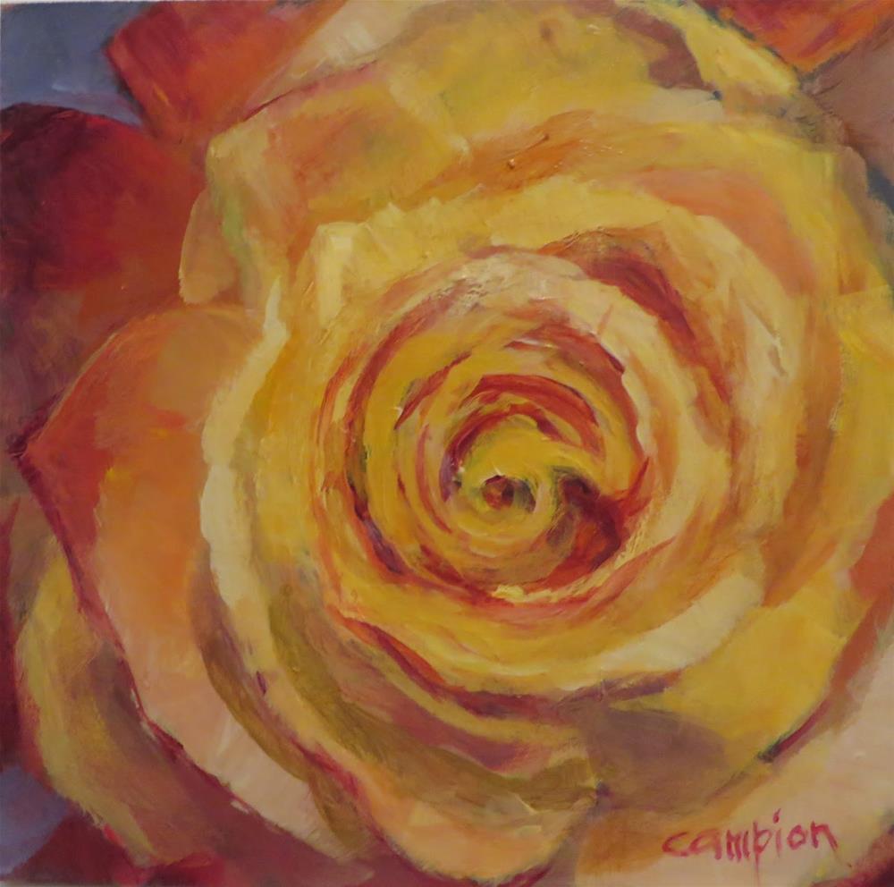 """""""669 Falling In Love"""" original fine art by Diane Campion"""