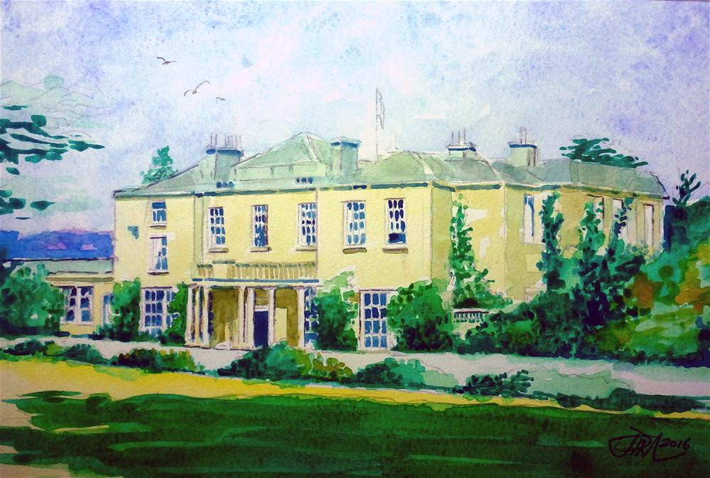 """Cricket St Thomas House Somerset"" original fine art by John Monney"