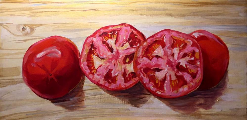 """Sliced, To Be Diced"" original fine art by Lauren Kuhn"