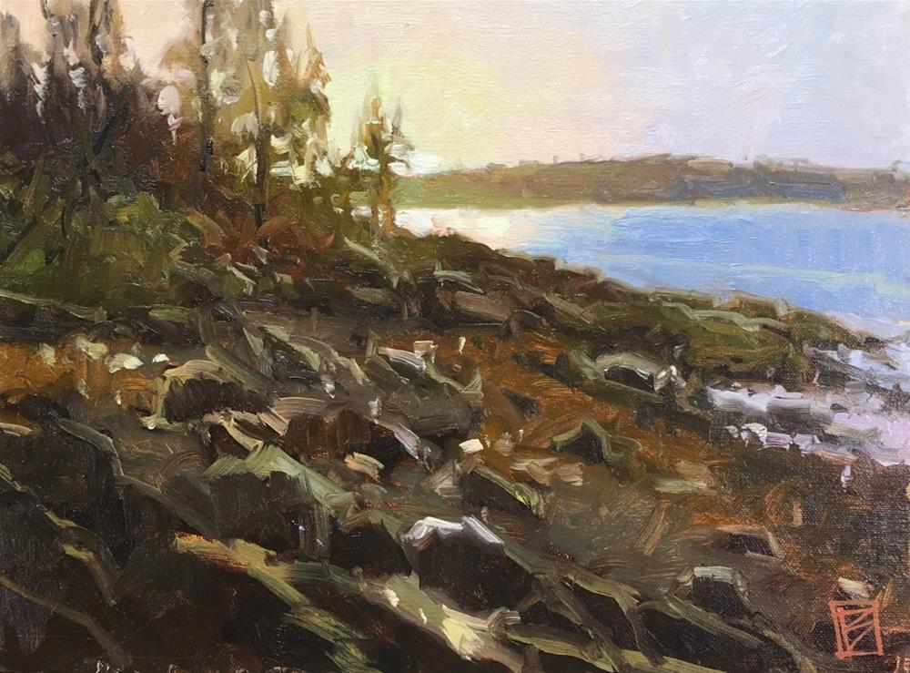 """Sunrise At Marshall Point"" original fine art by David Boyd Jr"