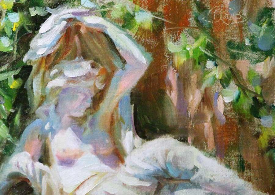 """""""Garden Goddess Study"""" original fine art by Pamela Blaies"""
