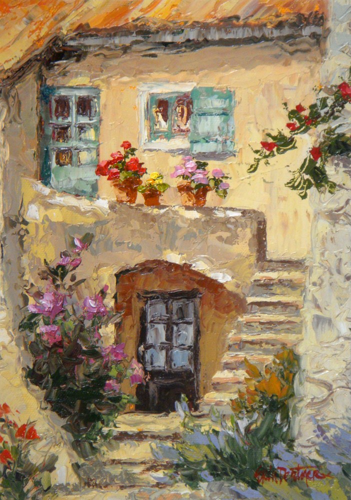 """""""Old World Cottage"""" original fine art by Erin Dertner"""