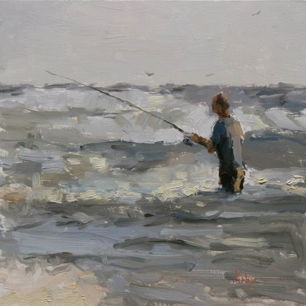 """Fishing on a Whim"" original fine art by Randall Cogburn"