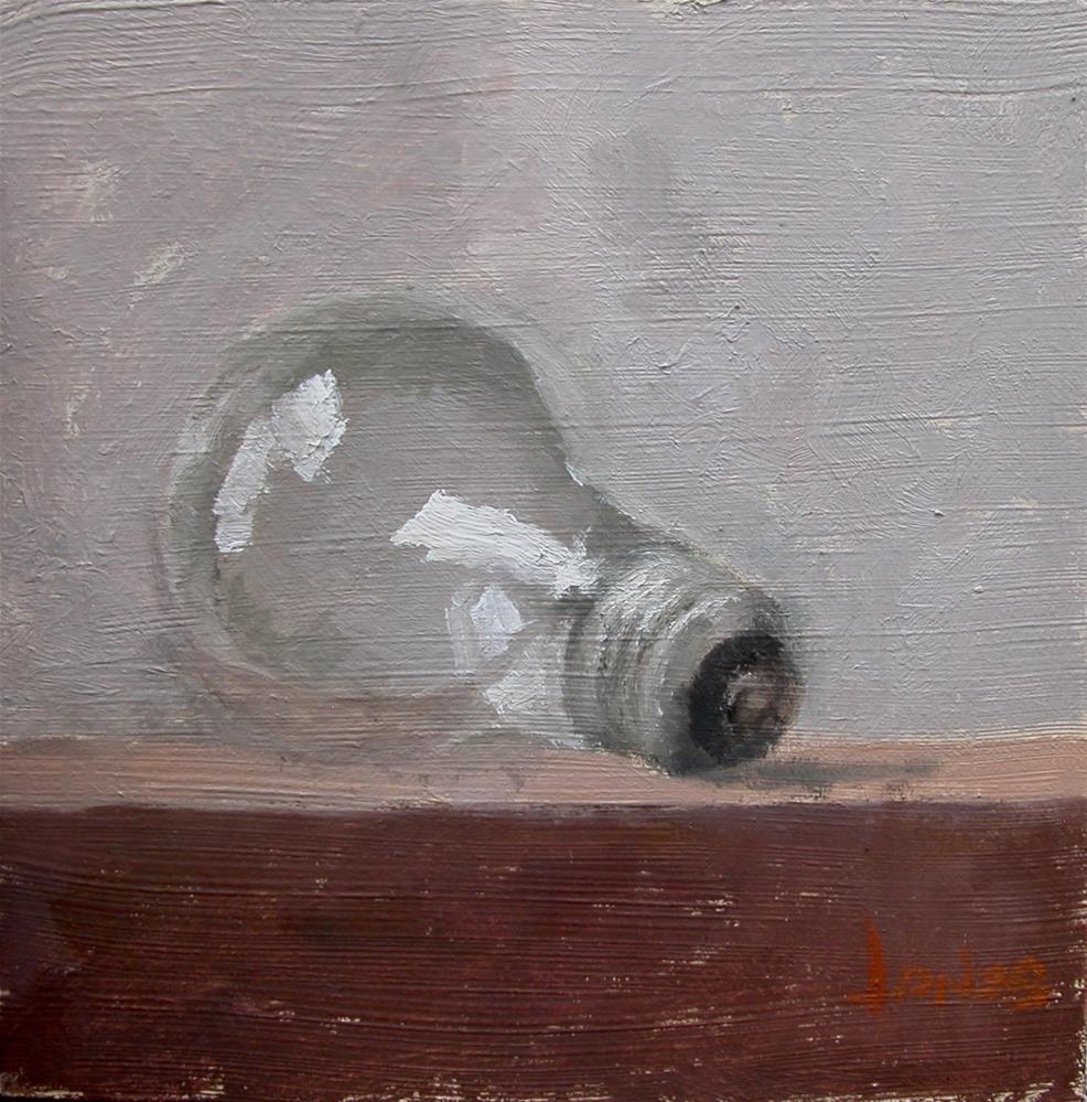 """Light Bulb"" original fine art by Richard Jones"