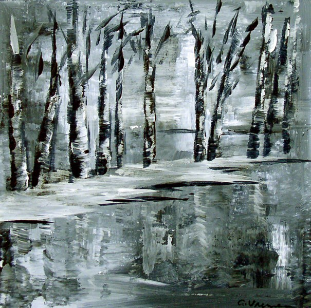 """Winter Trees"" original fine art by Anna Vreman"