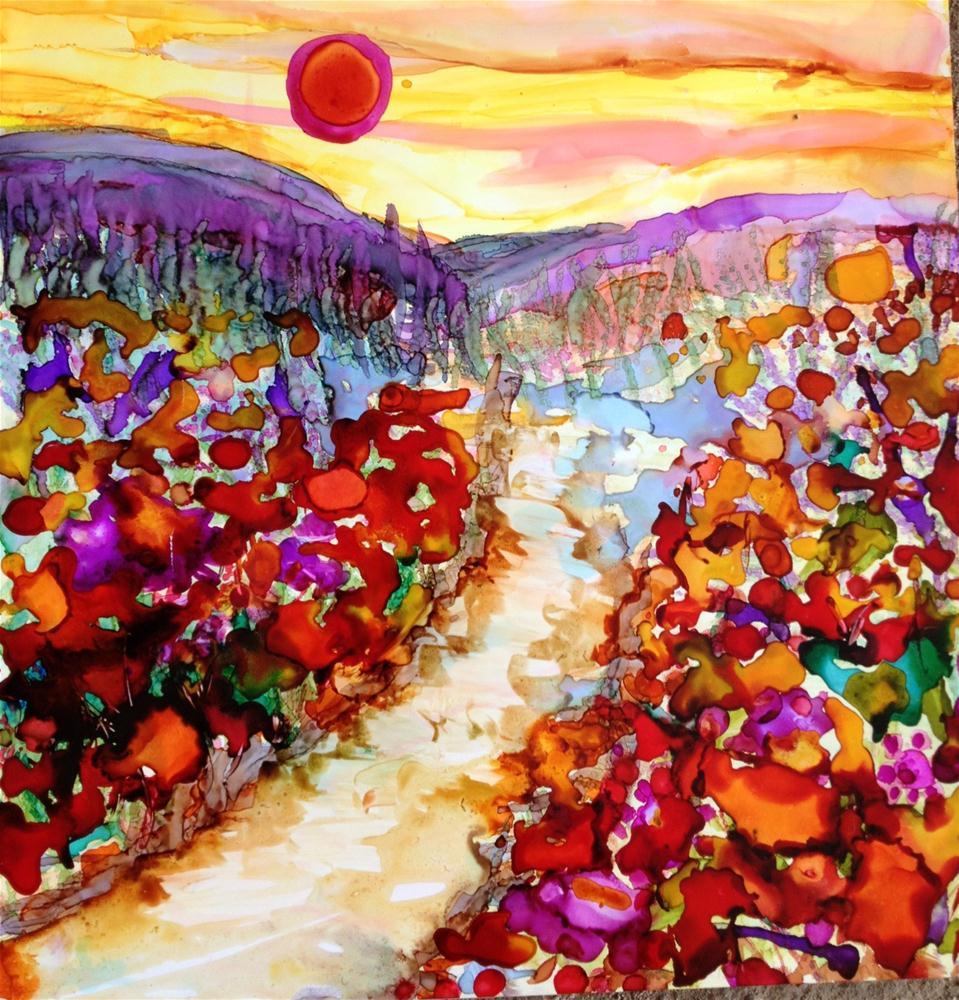 """Poppy Path"" original fine art by Kelly Alge"