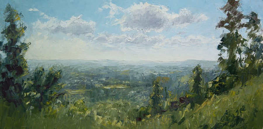 """""""Leith Hill View"""" original fine art by Jethro Knight"""