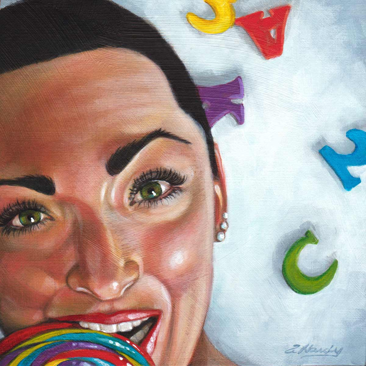 """At Arms Length#29, C is for Candy"" original fine art by Angela Hardy"