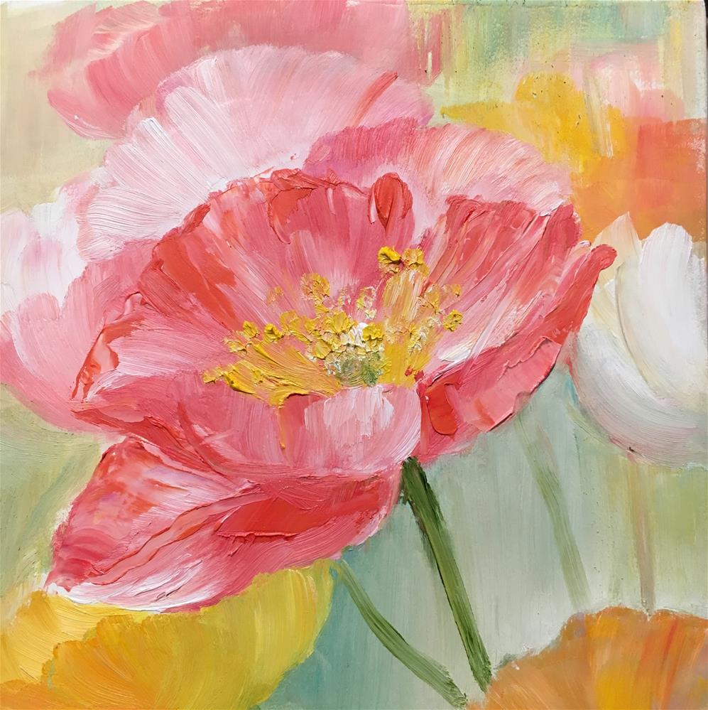 """Spring"" original fine art by Nooshfar Vassei"