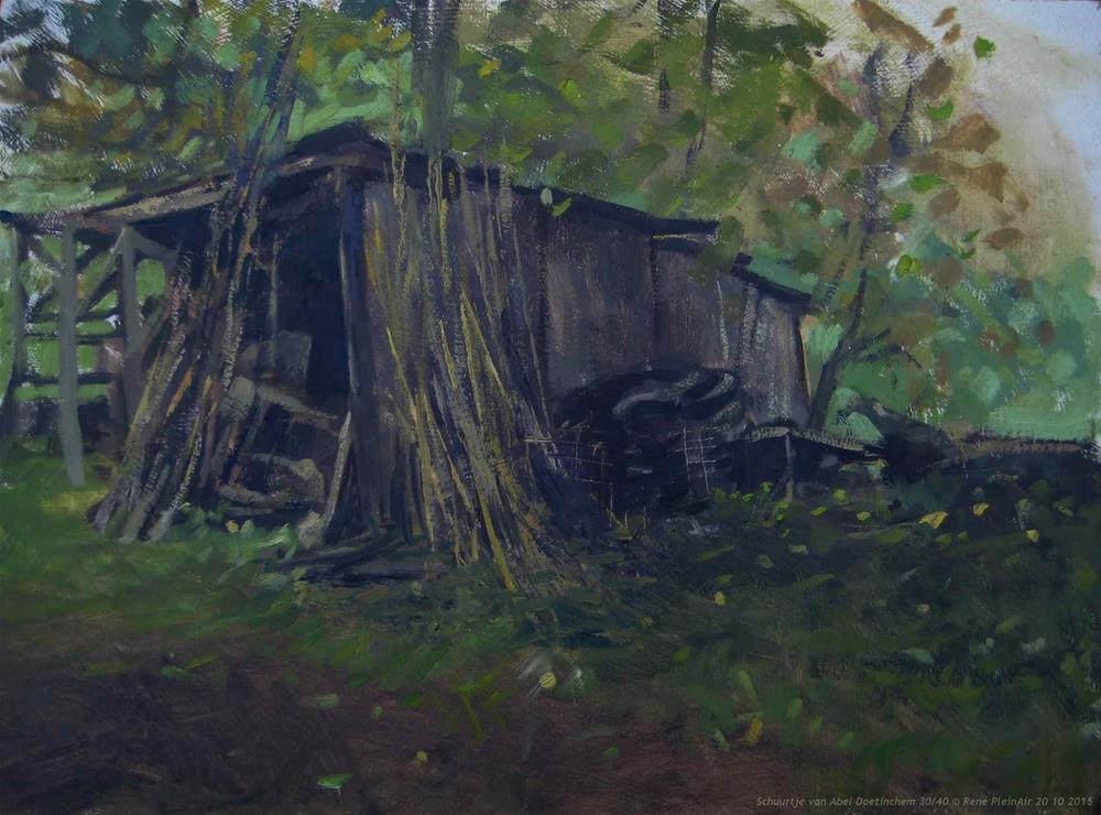 """Abels shed Doetinchem, The Netherlands"" original fine art by René PleinAir"