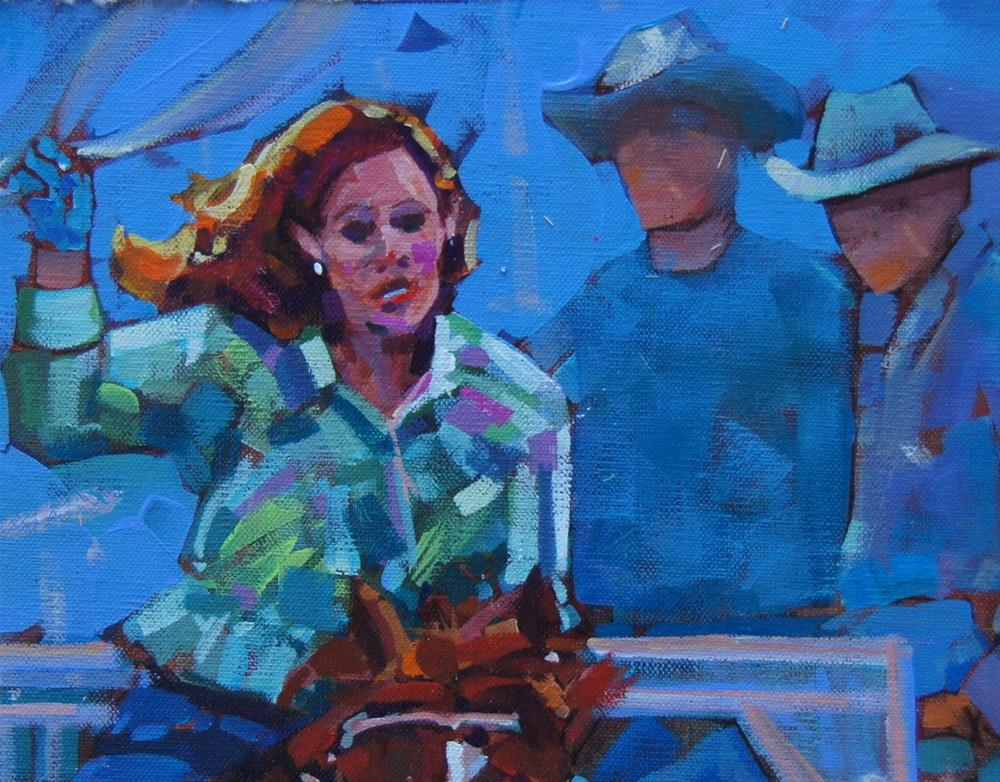 """You go girl!"" original fine art by Brian Buckrell"