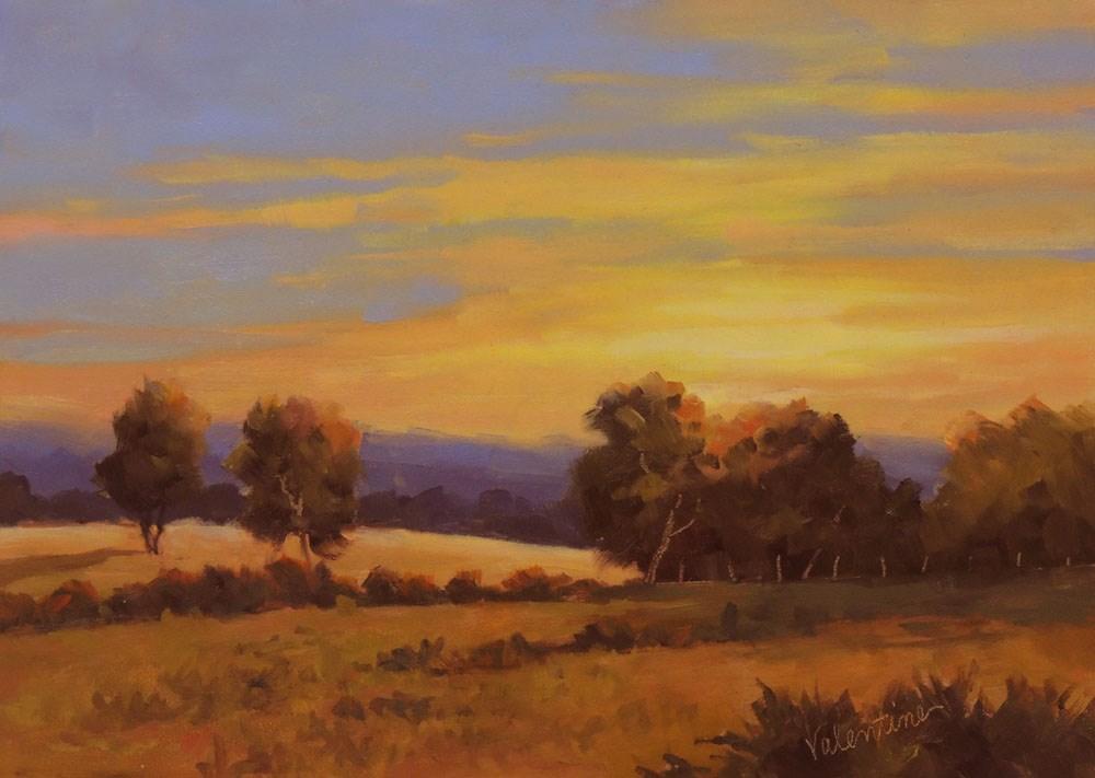 """Last Light"" original fine art by Barbara Valentine"