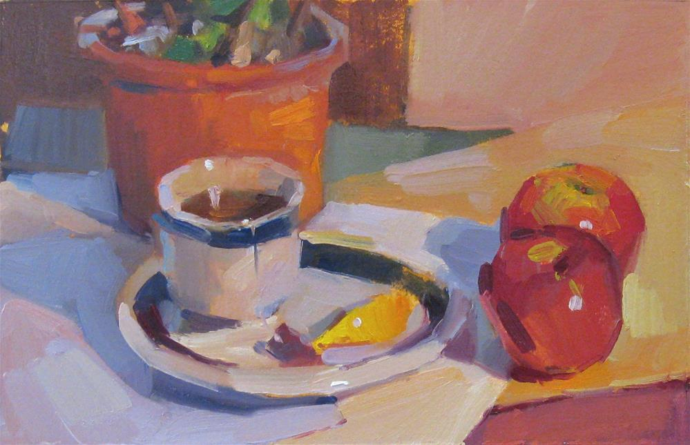 """A Spot of Tea"" original fine art by Sarah Sedwick"