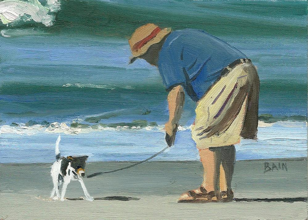 """Beach Pals"" original fine art by Peter Bain"