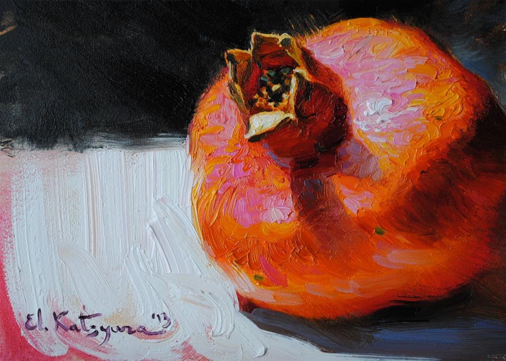 """Pomegranate II"" original fine art by Elena Katsyura"