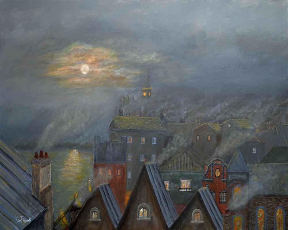 """London Fog"" original fine art by Ken Figurski"