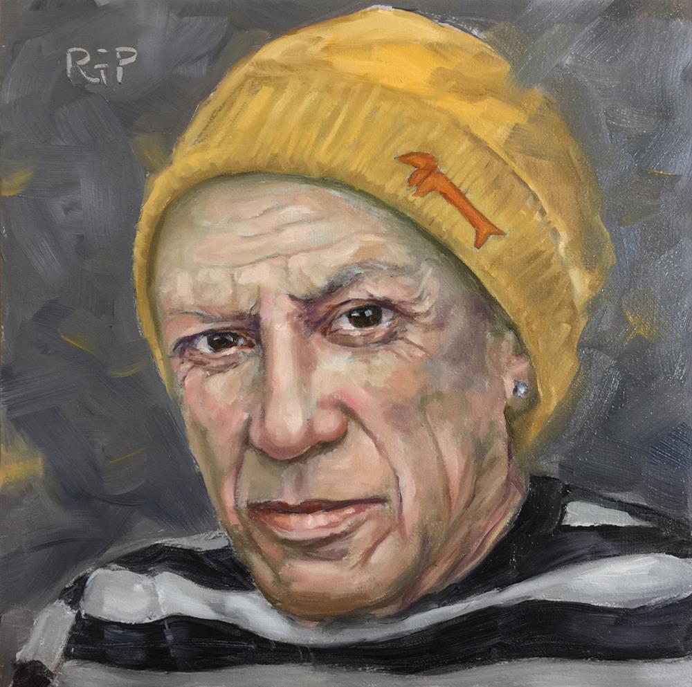 """Hipster Picasso"" original fine art by Rhea  Groepper Pettit"