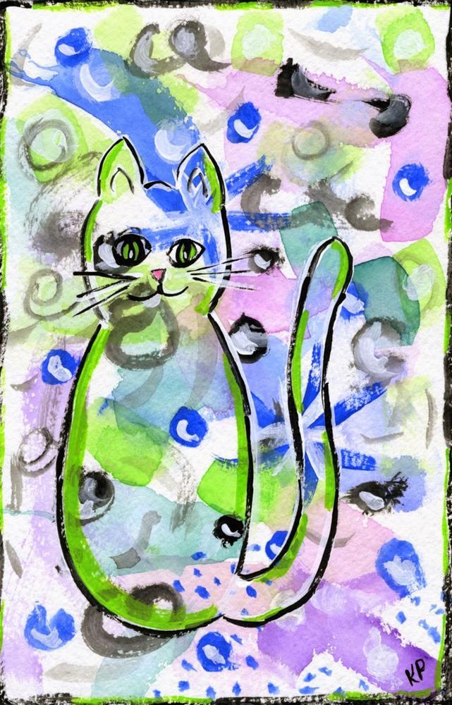 """Pretty Kitty"" original fine art by Kali Parsons"