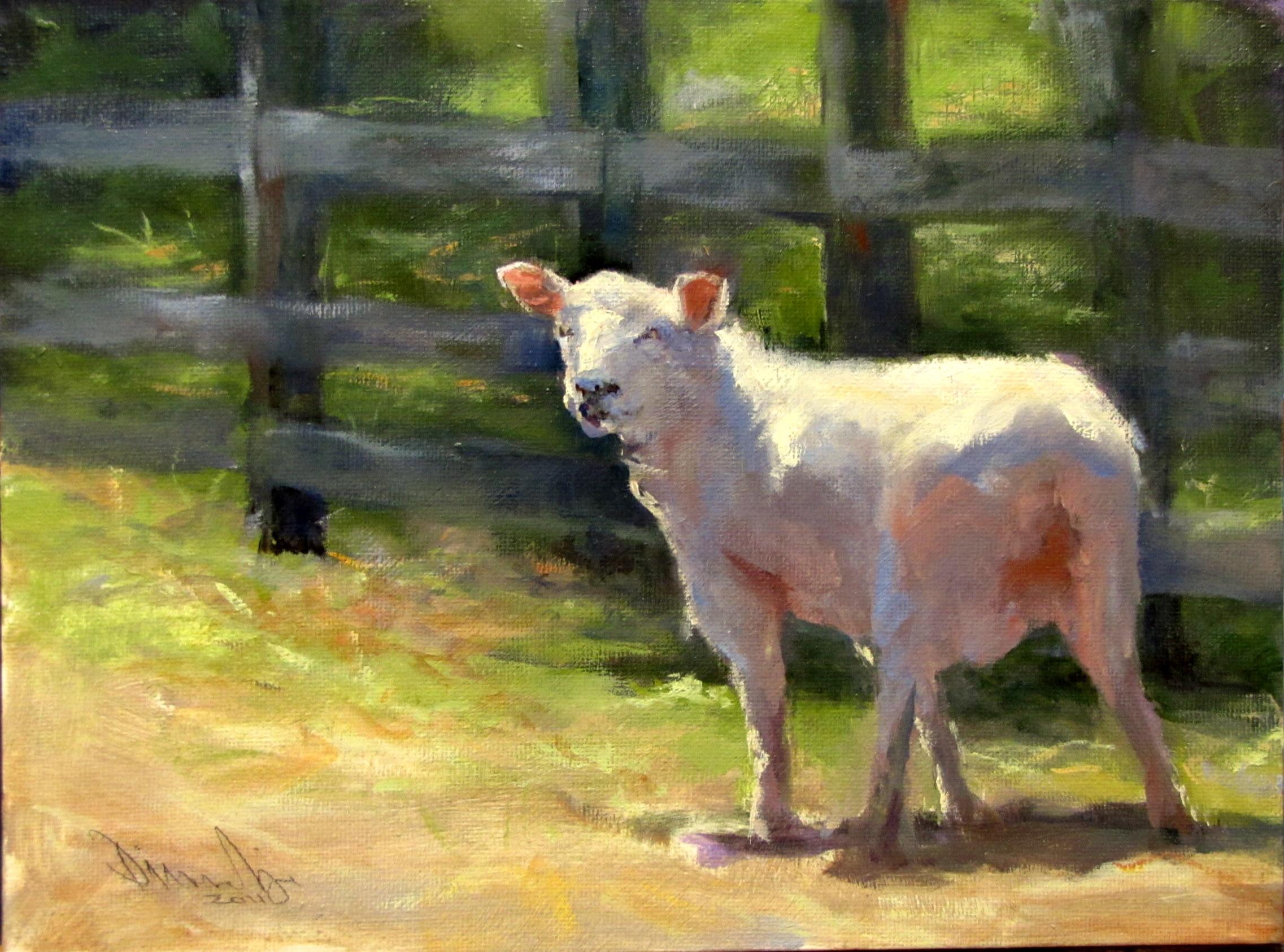 """""""Looking Back"""" original fine art by Dianne Mize"""