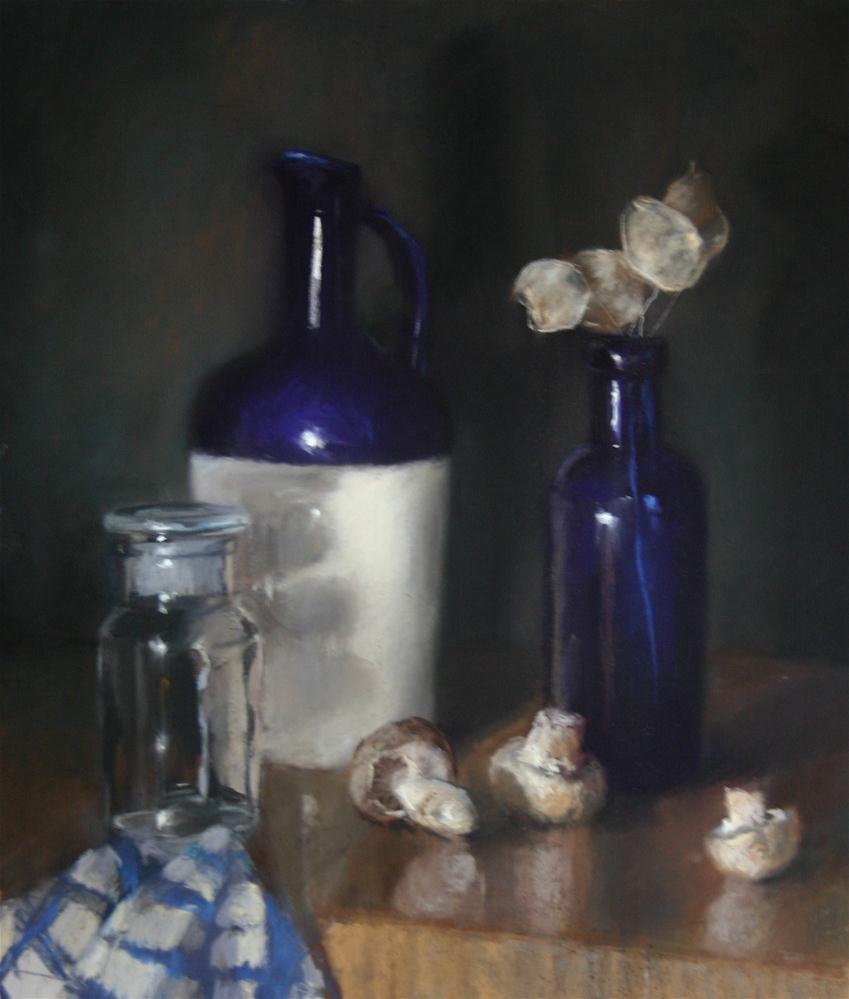 """""""Arrangement in blue and white"""" original fine art by Liz Balkwill"""