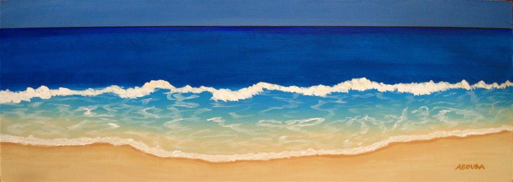 """Ocean Blue"" original fine art by Sandy Abouda"