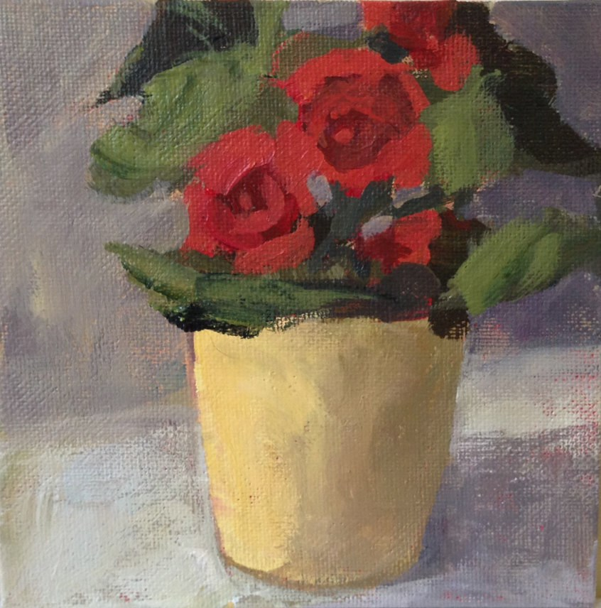 """Bright Begonias"" original fine art by Shannon Bauer"