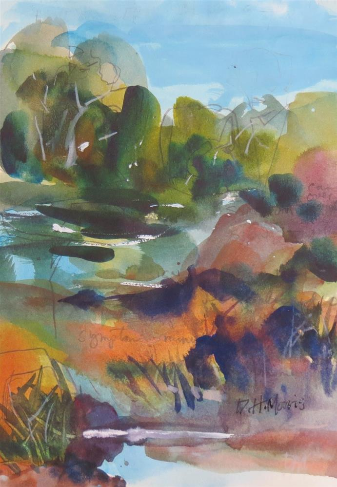 """Wetland"" original fine art by Dann Morris"