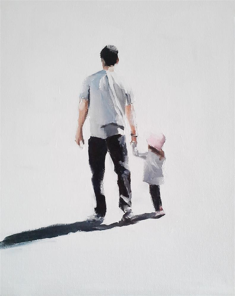 """Out With Dad"" original fine art by James Coates"