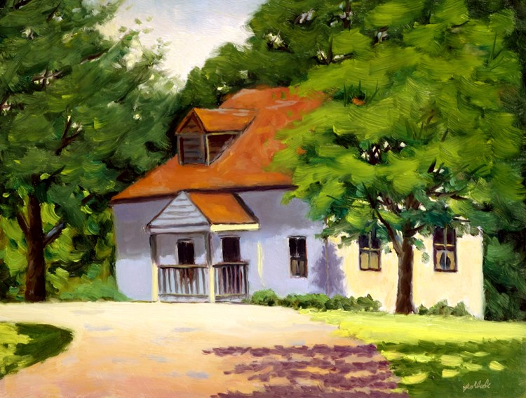 """Faust Park Historic Home en Plein air"" original fine art by Daniel Fishback"