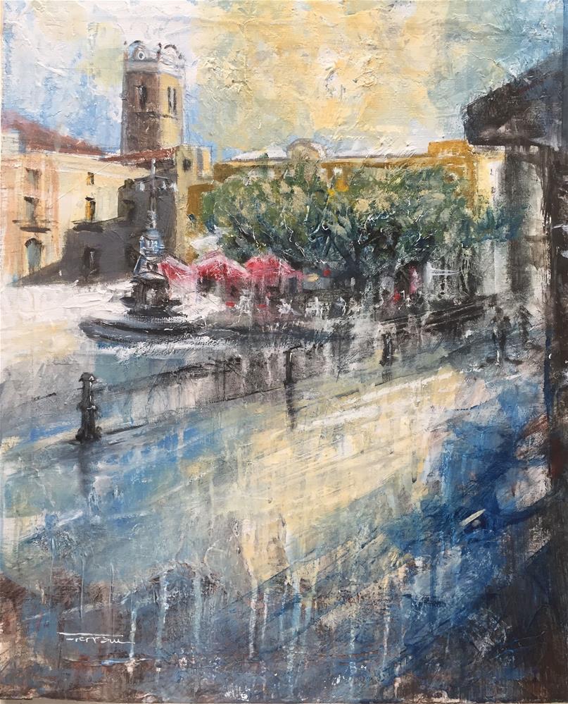 """""""TOWN HALL SQUARE"""" original fine art by Ferran Llagostera"""