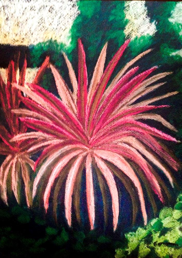 """Red agave"" original fine art by Giovanni Antunez"
