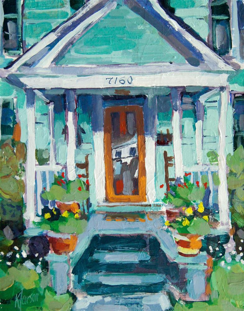 """Porch 7160"" original fine art by Kevin Larson"