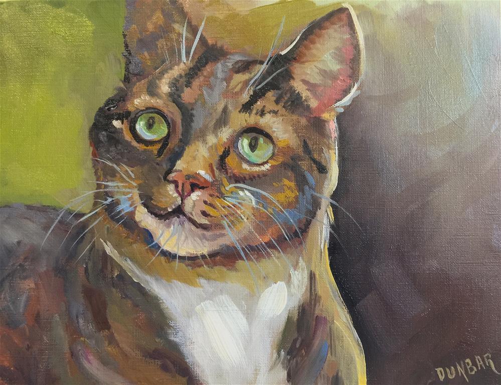 """Tabby"" original fine art by Linda Dunbar"