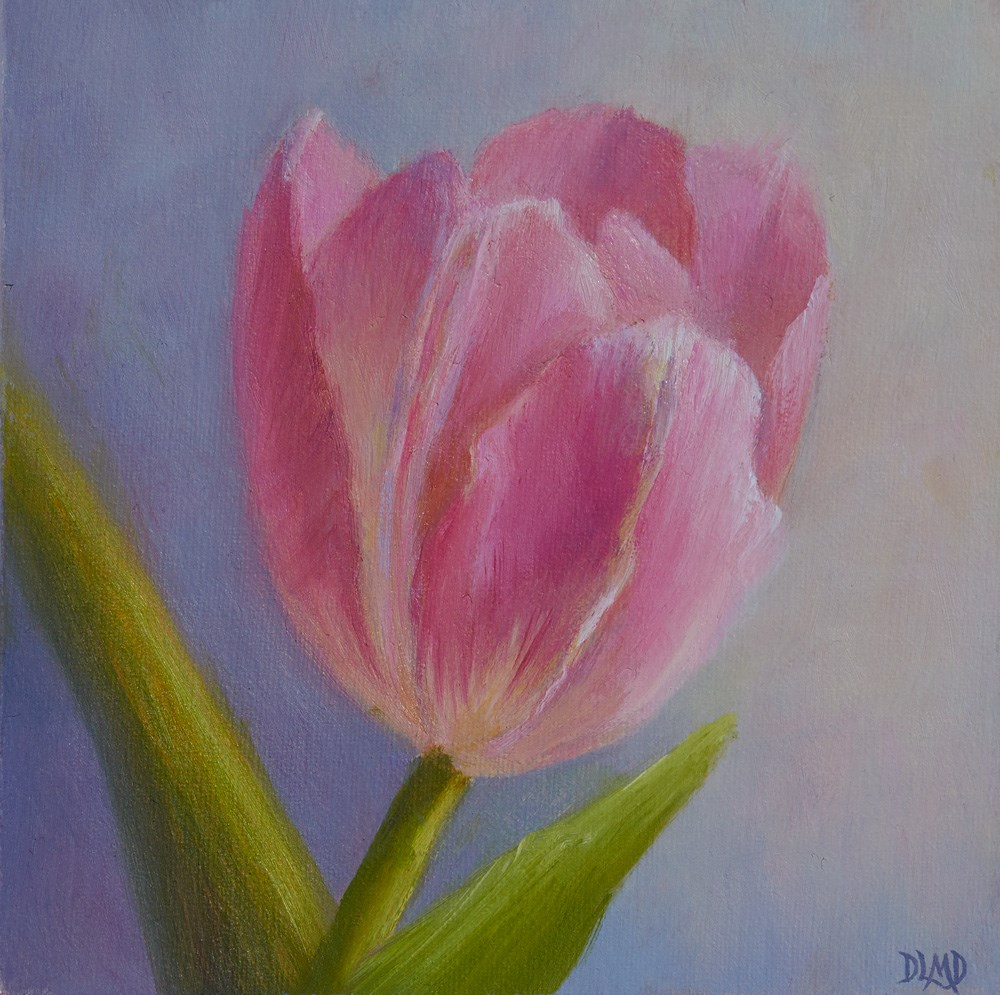 """Tulip Commission and Daily Sketch"" original fine art by Debbie Lamey-Macdonald"