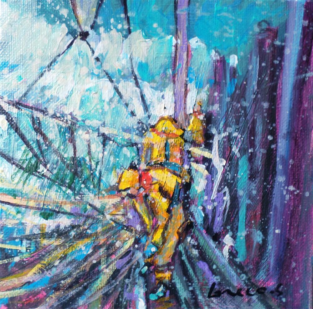 """fisherman"" original fine art by salvatore greco"