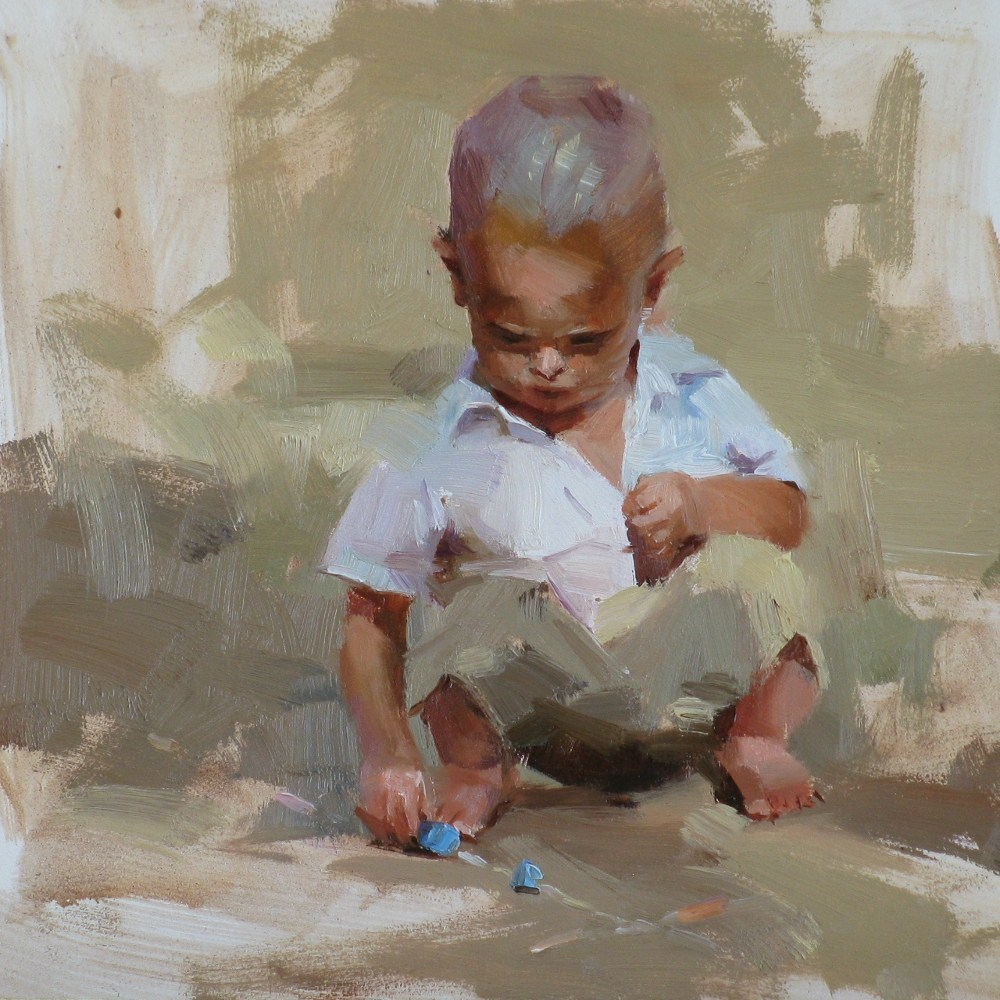 """A Young Artist"" original fine art by Qiang Huang"
