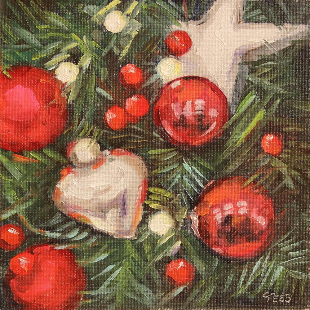 """Rockin Around The Christmas Tree- Brenda Lee"" original fine art by Tess Lehman"