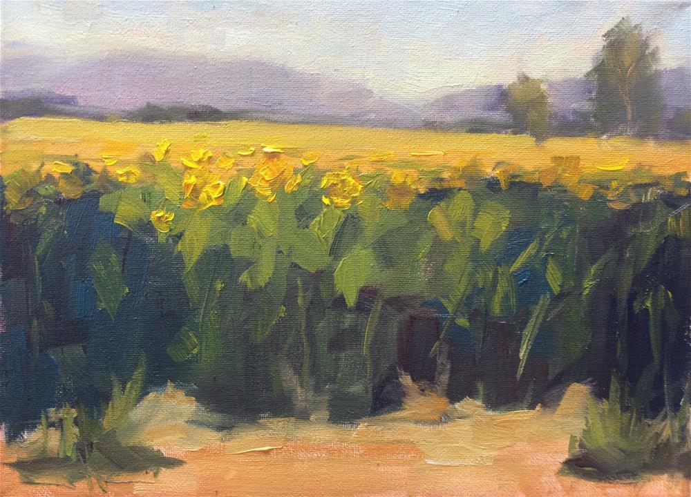 """Middle of Summer"" original fine art by Naomi Bautista"